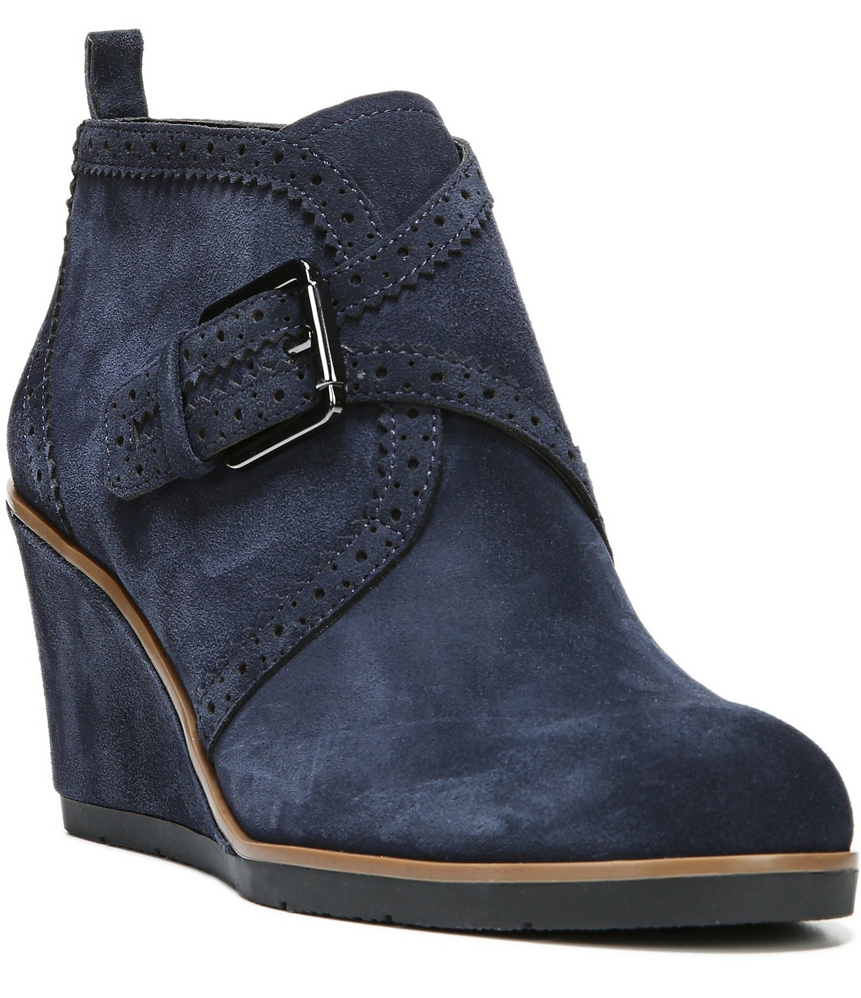 Franco Sarto Arielle Wedge Booties In Blue Lyst