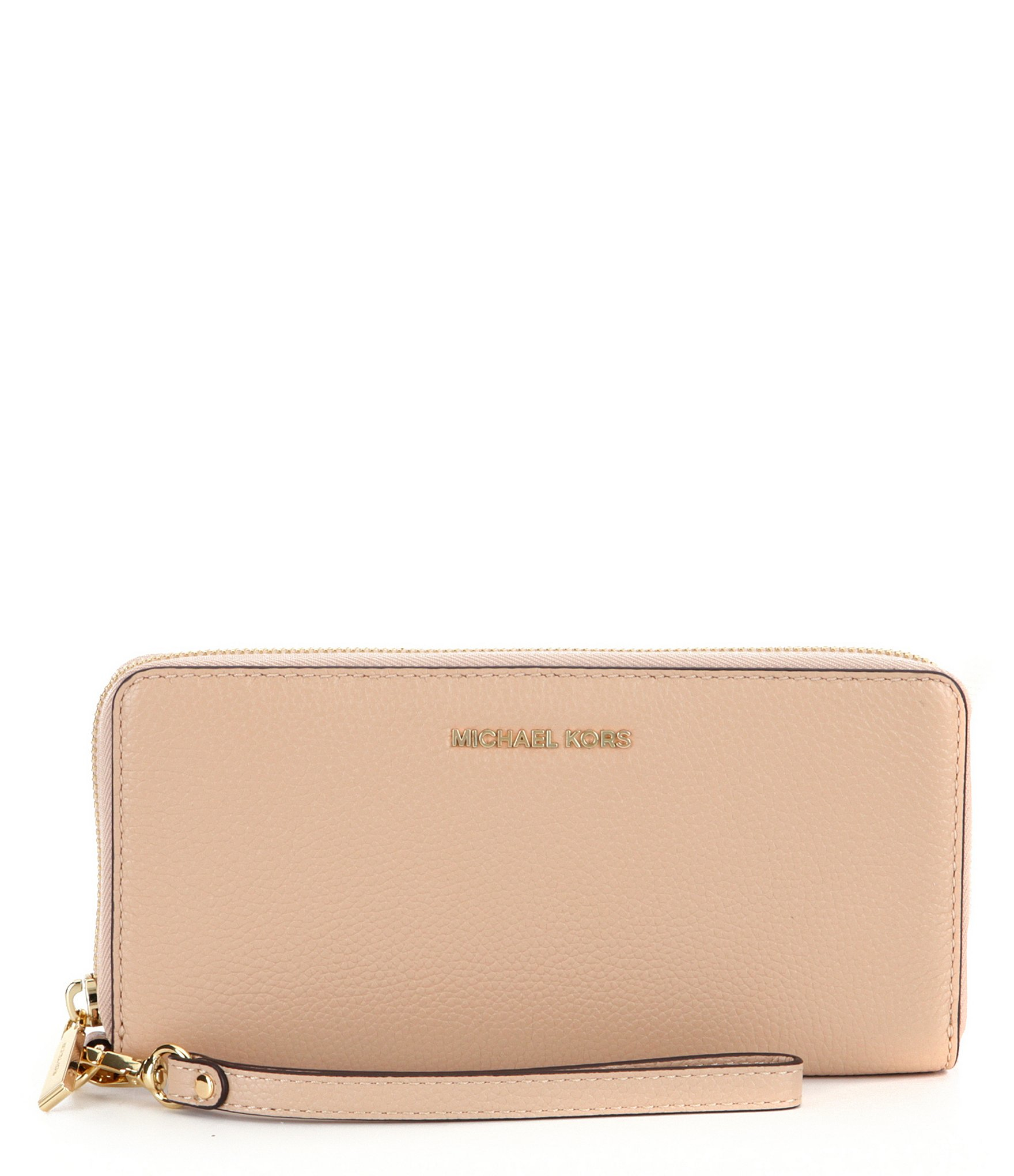 44a626350fa9 MICHAEL Michael Kors Mercer Travel Continental Wallet in Natural - Lyst