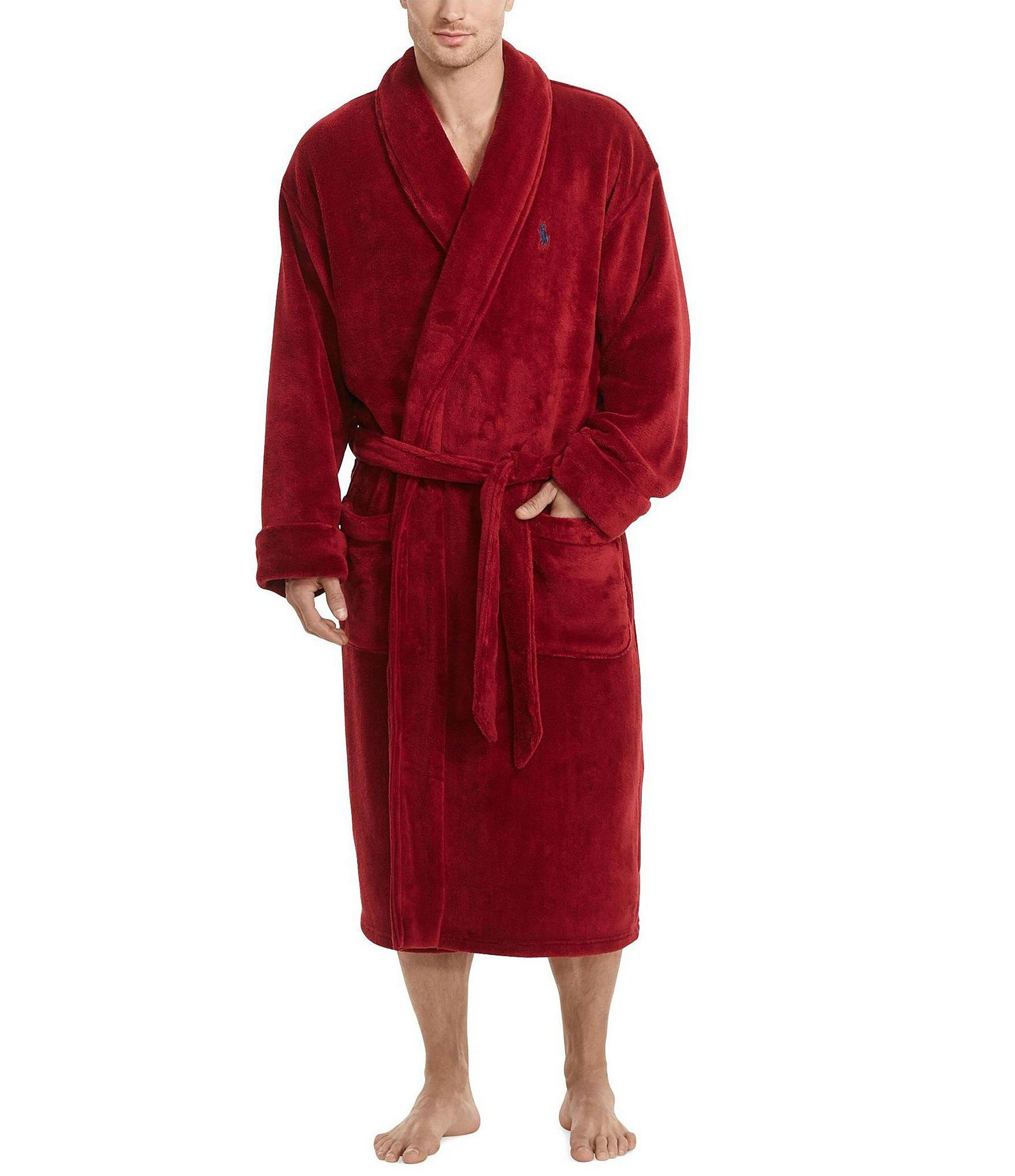 polo ralph lauren microfleece robe for men lyst. Black Bedroom Furniture Sets. Home Design Ideas
