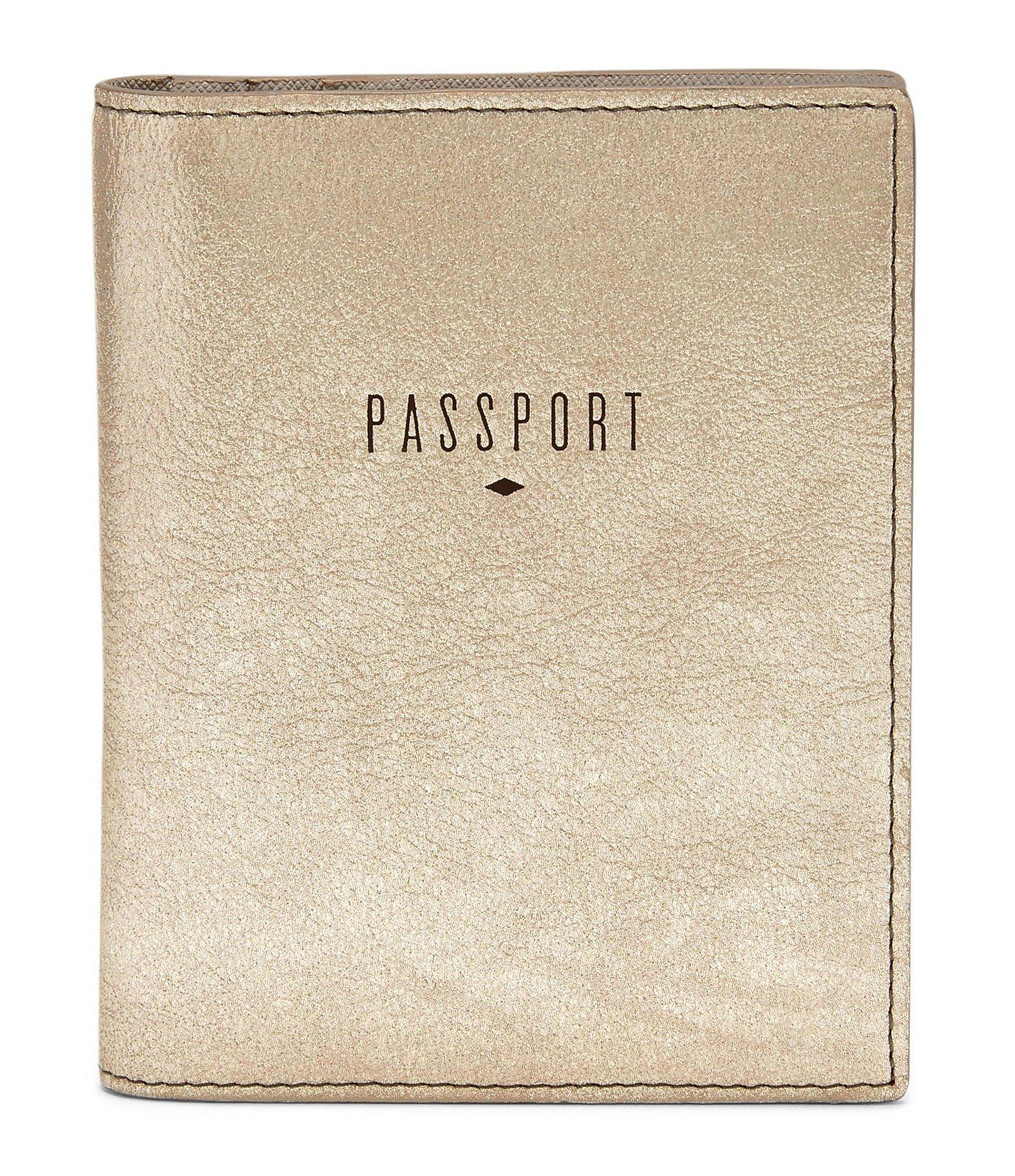 Lyst - Fossil Rfid Metallic Passport Case in Metallic for Men