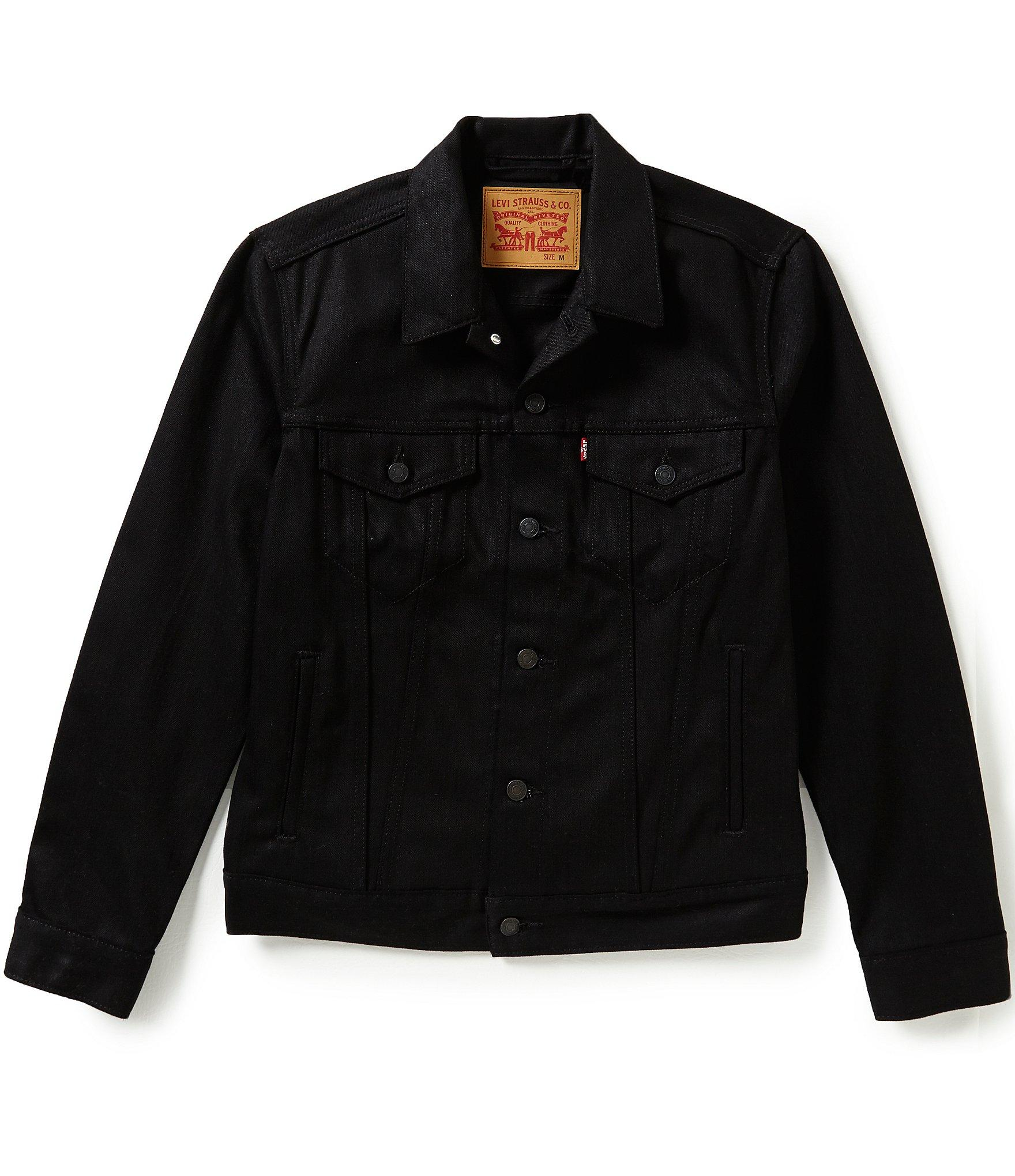 Leviu0026#39;s Levi u0301su00ae The Trucker Denim Jacket in Black for Men | Lyst