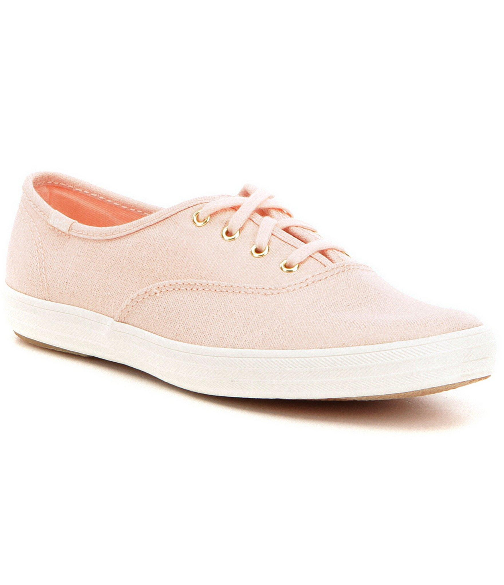 4a40970af573 Lyst - Keds Champion Metallic Twill Lace Up Sneakers in Pink