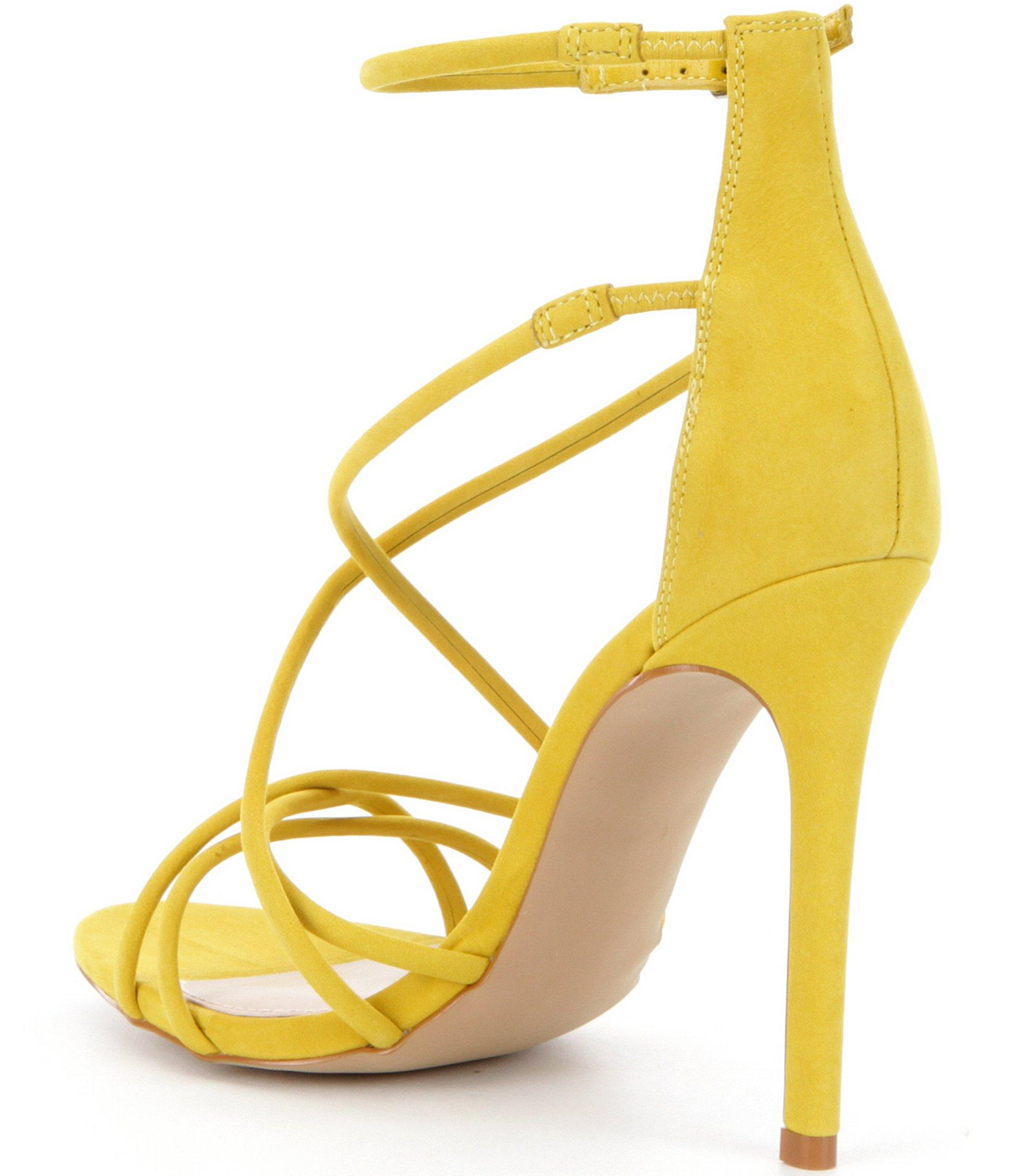 Steve Madden Strappy Sandal In Yellow Lyst