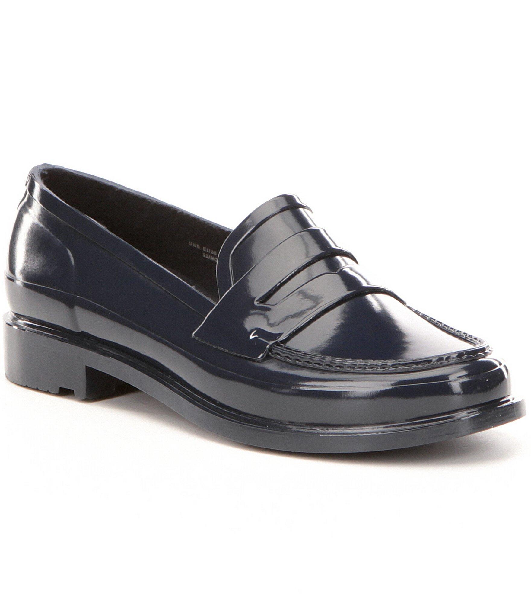 a7d7518fe28 Lyst - HUNTER Original Short Waterproof Penny Loafers in Blue for Men
