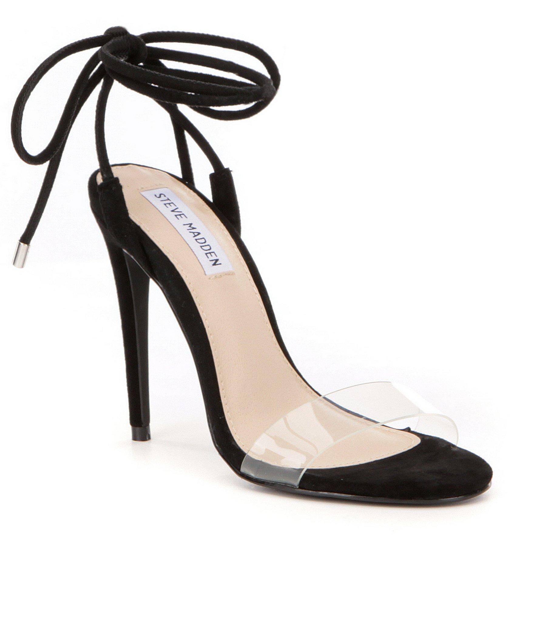 b0a085d0eeec43 Lyst - Steve Madden Lyla Ankle Tie Dress Sandals in Black