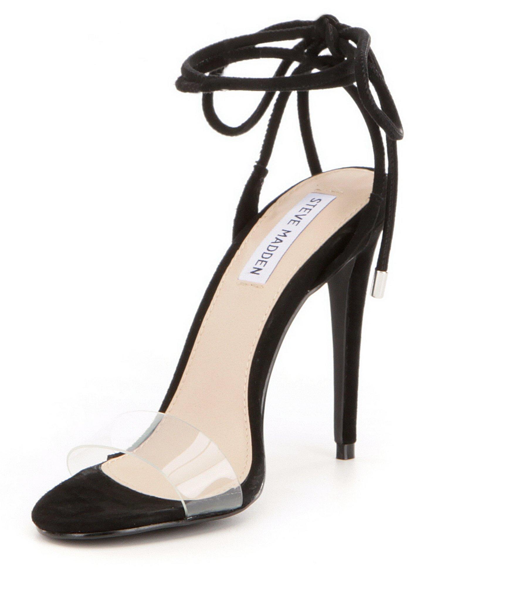0ce85584e89 Lyst - Steve Madden Lyla Ankle Tie Dress Sandals in Black