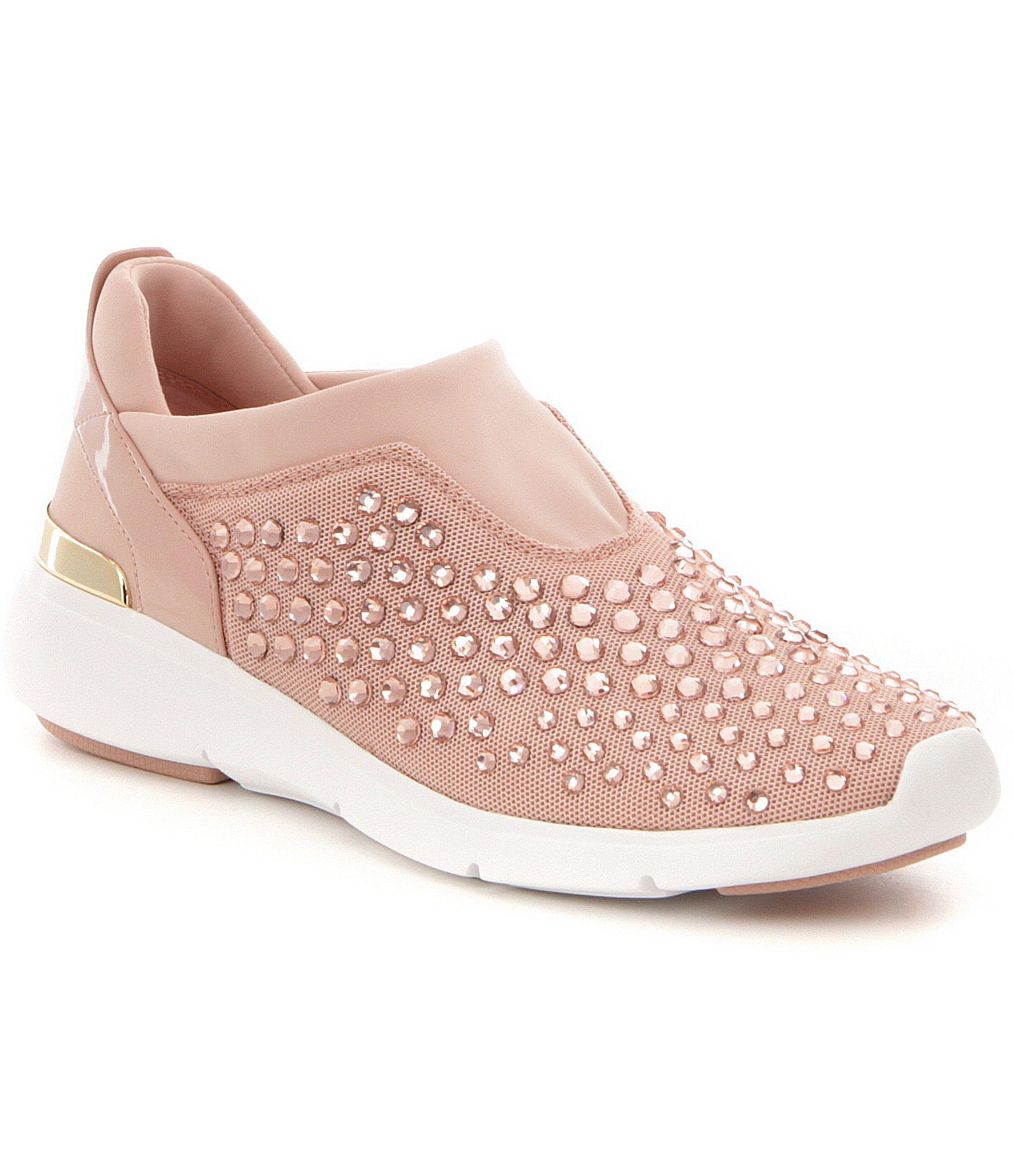 bb9c903a919b Lyst - MICHAEL Michael Kors Ace Rhinestone-embellished Sneakers in Pink