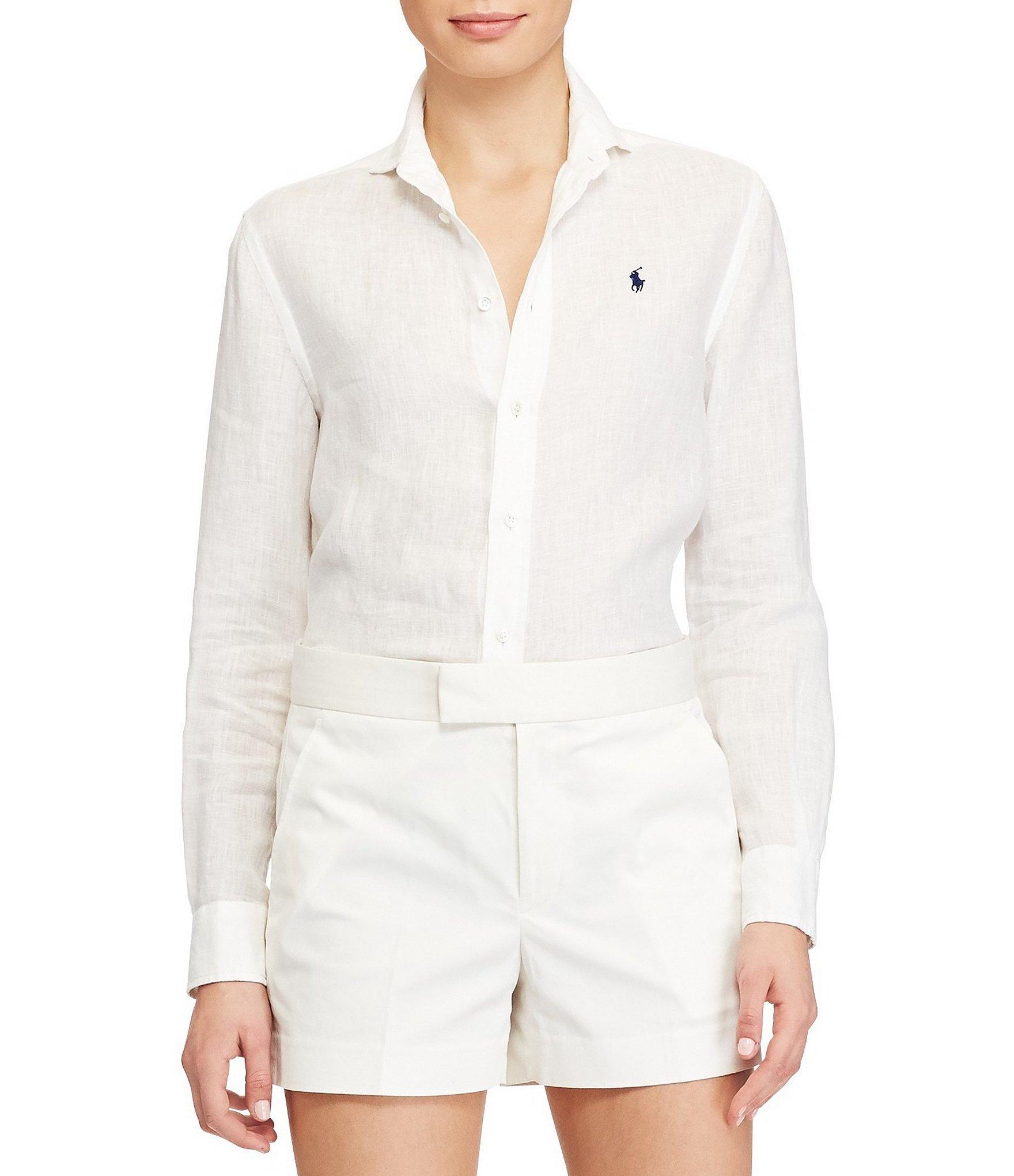 e5ee2235a87 Lyst - Polo Ralph Lauren Relaxed Fit Linen Shirt in White