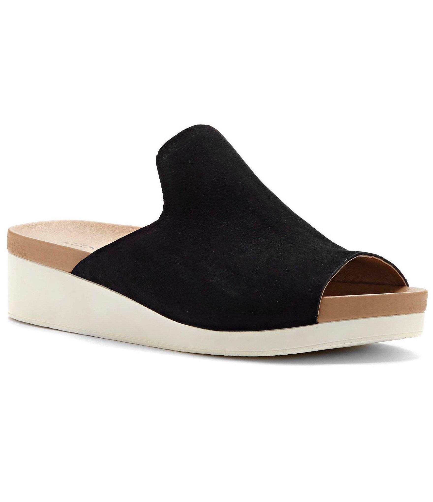 Lucky Brand Finela Slide Sandals In Black Lyst