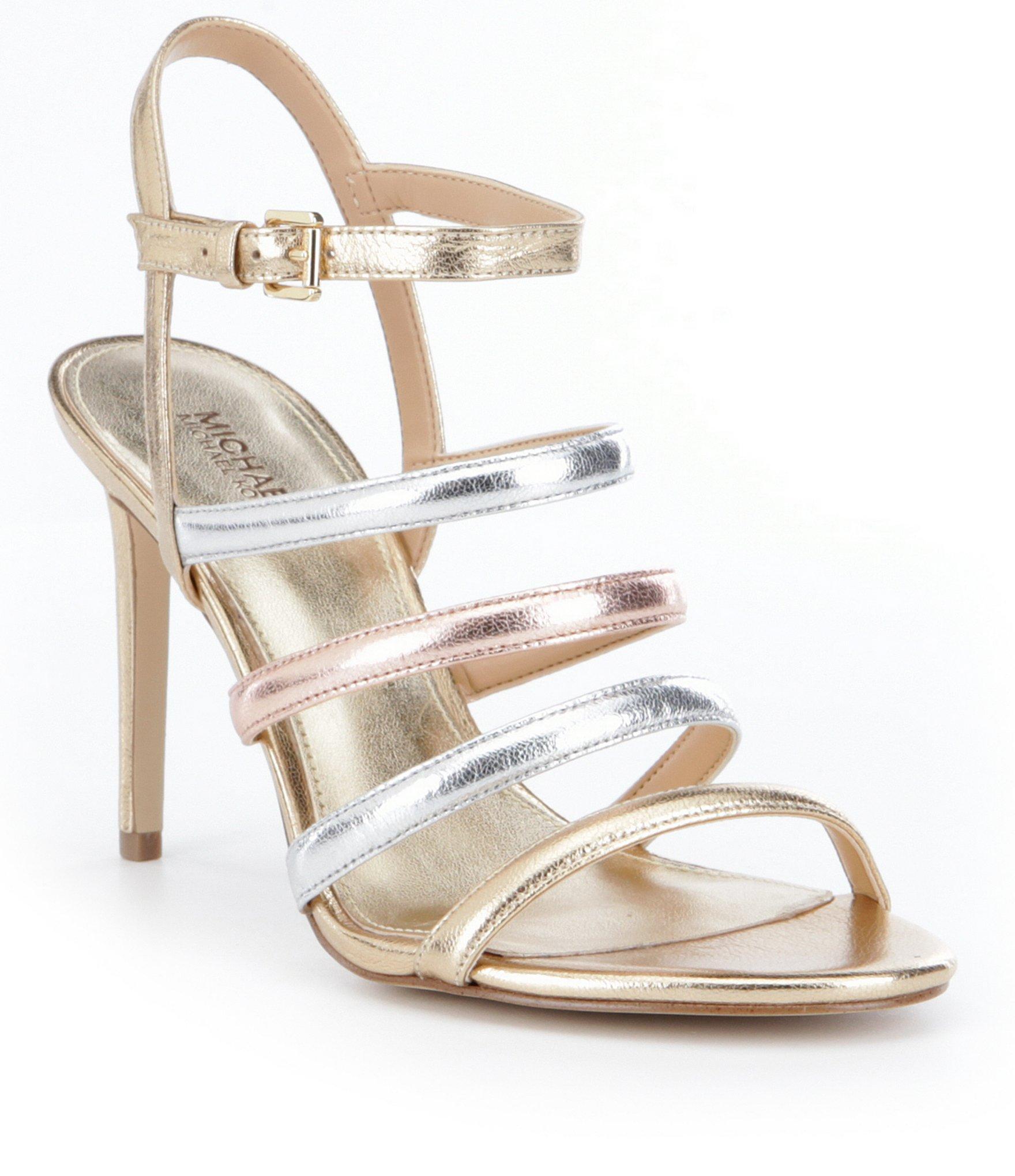 e1ed078646a Lyst - MICHAEL Michael Kors Nantucket Sandals in Metallic