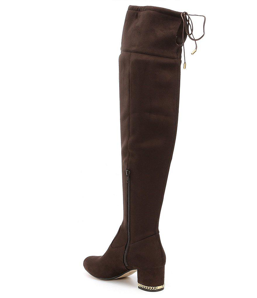 ae71a8196500f Lyst - MICHAEL Michael Kors Jamie Over The Knee Boots in Black