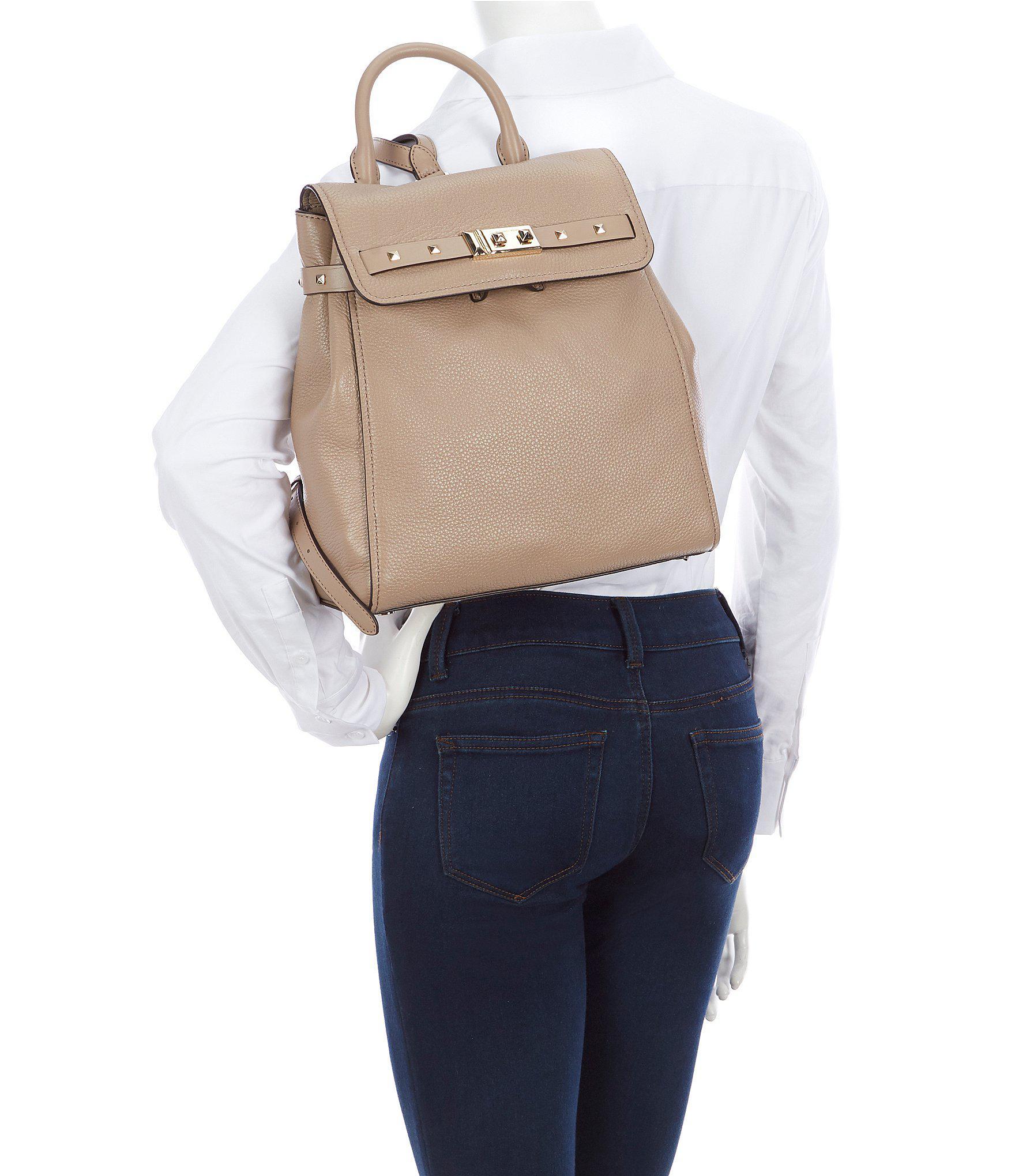 9abf388fd44d MICHAEL Michael Kors Addison Medium Leather Backpack in Black - Lyst