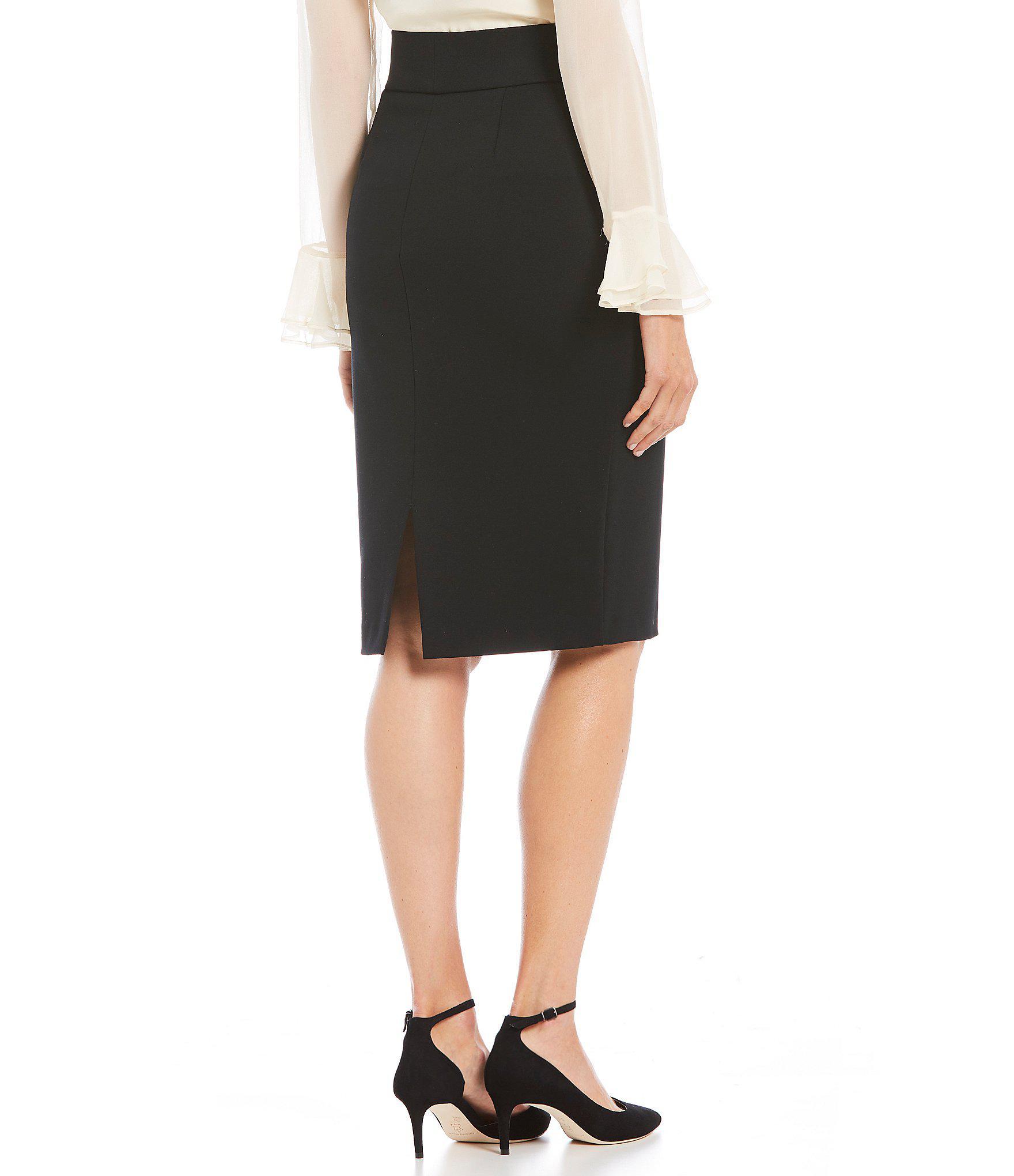878917605399d Lyst - Antonio Melani Rachel Ponte Skirt in Black