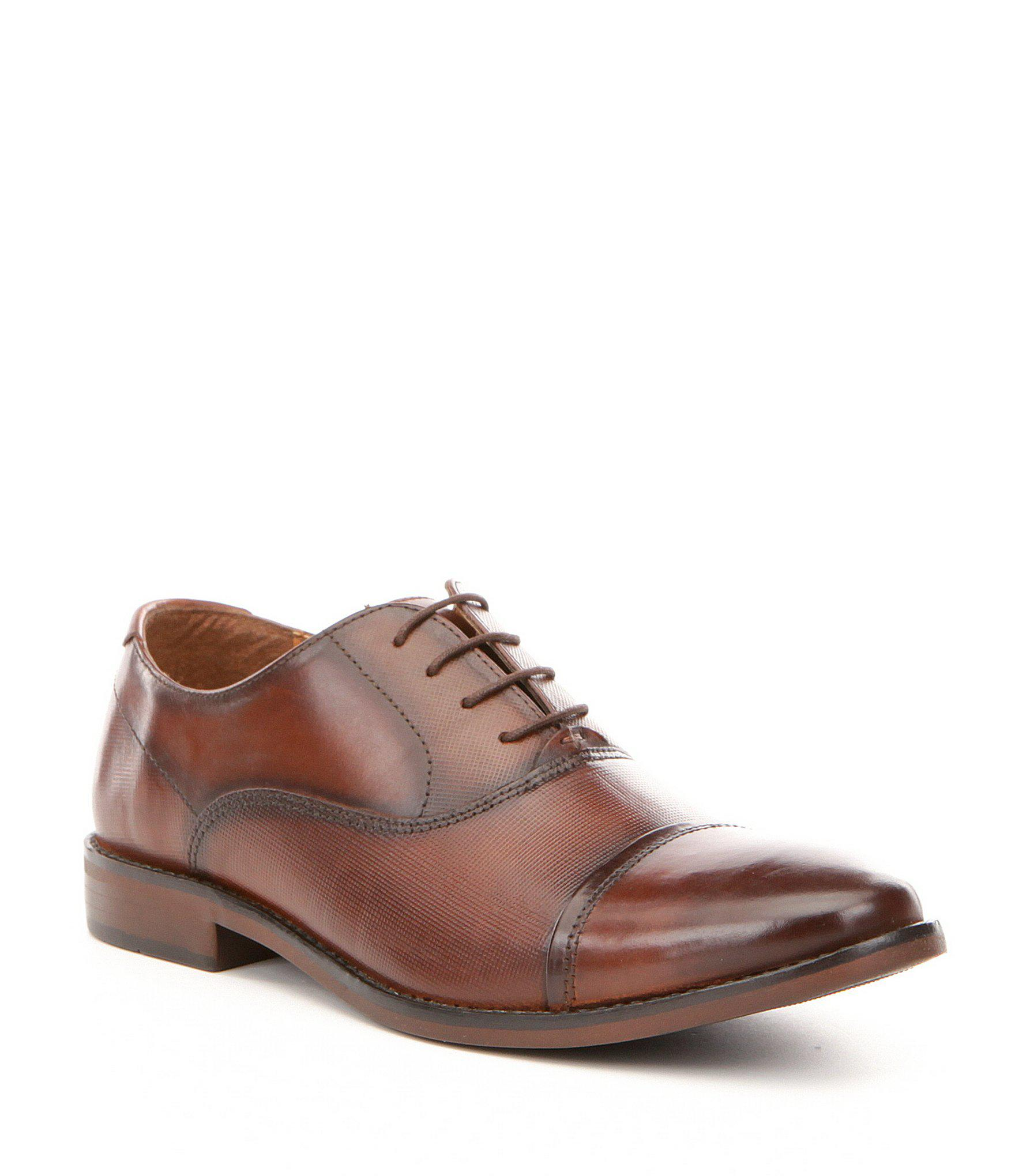 7c431ffe417 Steve Madden Men's Finnch Leather Lace-up Cap Toe Oxfords in Brown ...