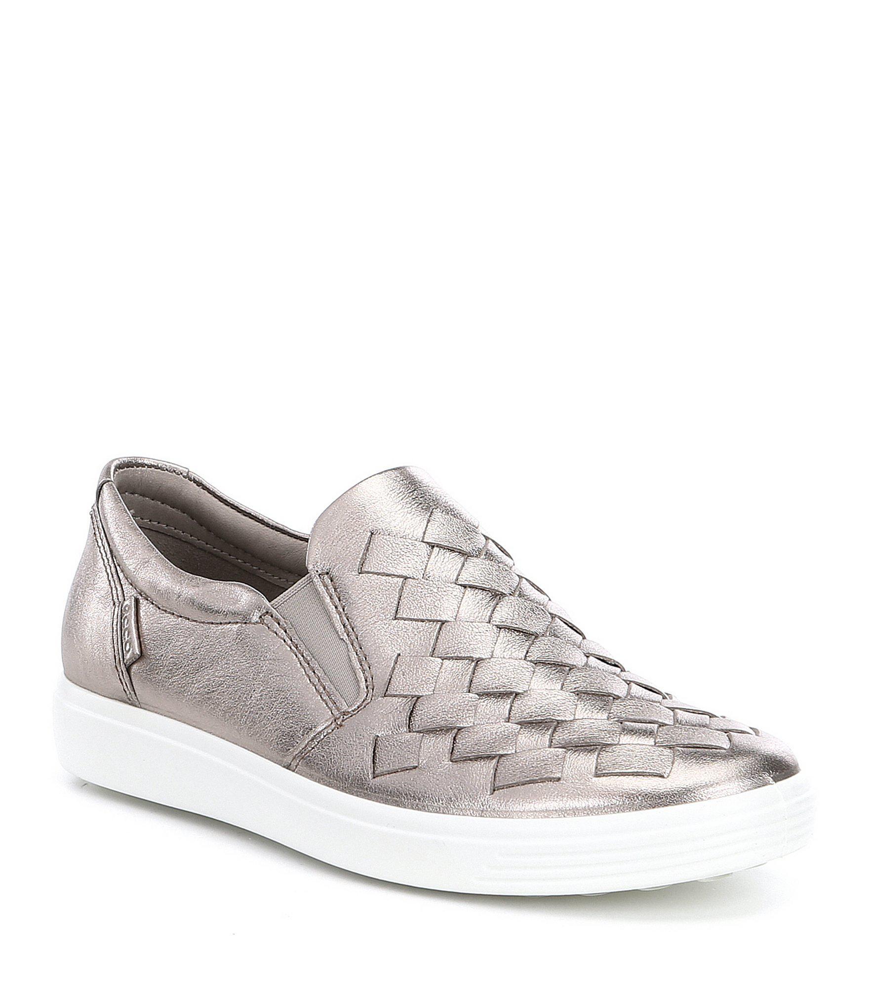 e735e53127d Lyst - Ecco Women s Soft 7 Woven Slip-on Sneakers in Black