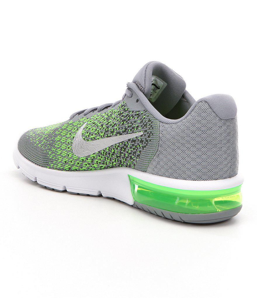 Nike Men ́s Air Max Sequent 2 Knit Lace Up Running Shoe In
