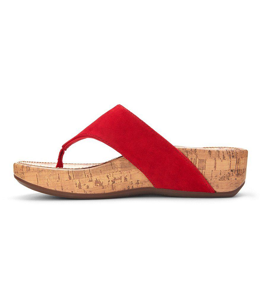 Vionic Pacific Marbella Suede Thong Sandals Wasmn7smT