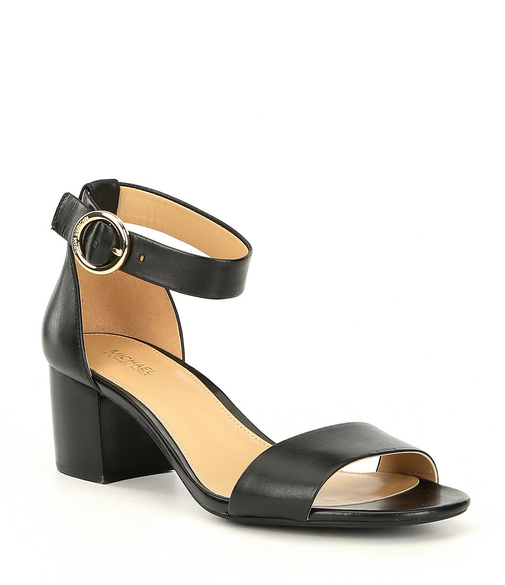 03fa5286de6 Lyst - MICHAEL Michael Kors Lena Flex Block Heel Sandals in Black