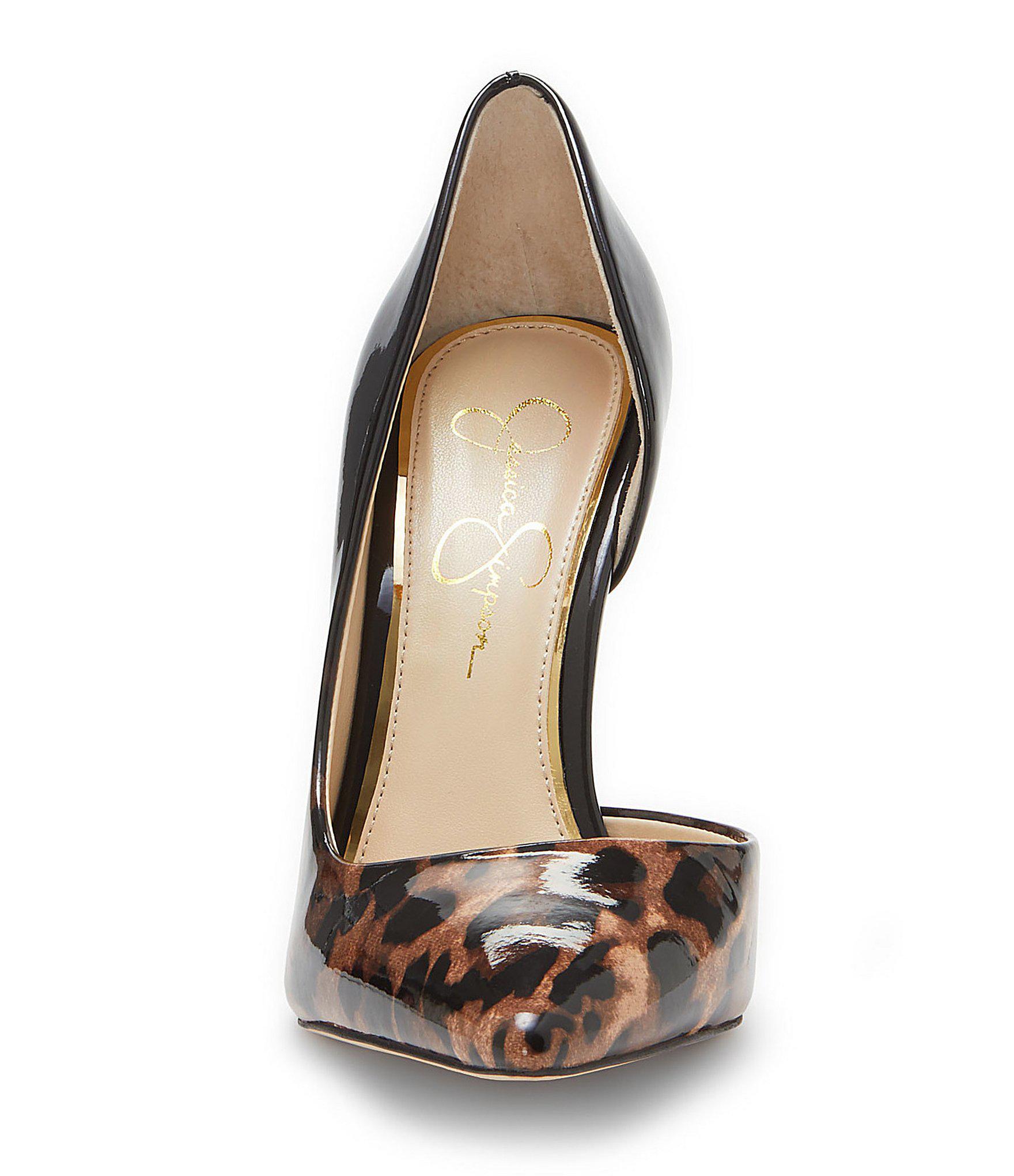 96d39c7af35 Lyst - Jessica Simpson Pheona Leopard Ombre Pumps