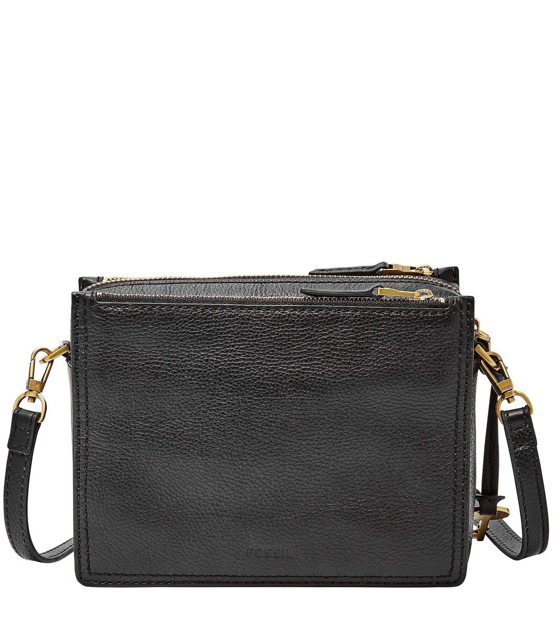 b539332a0eaa9 Fossil - Black Campbell Leather Cross-body Bag - Lyst. View fullscreen