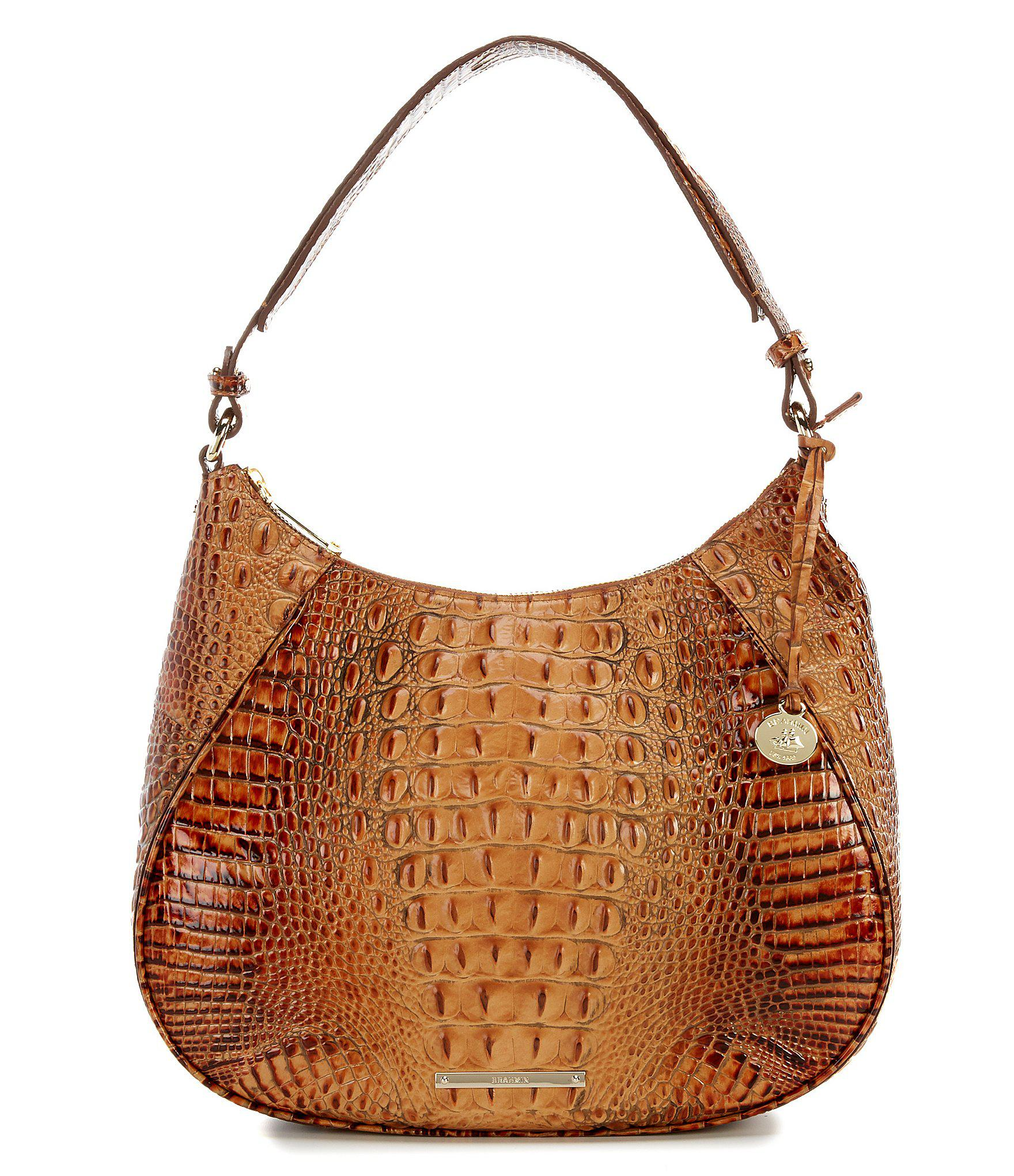 bb7911cd5fb6 Brahmin Toasted Almond Collection Amira Hobo Bag in Brown - Lyst