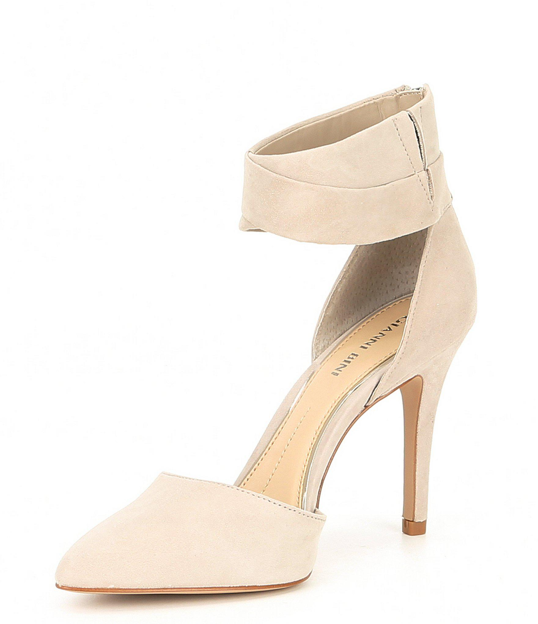 f014e14ae7 Gianni Bini Marstell Suede Two-piece Pumps in Natural - Lyst
