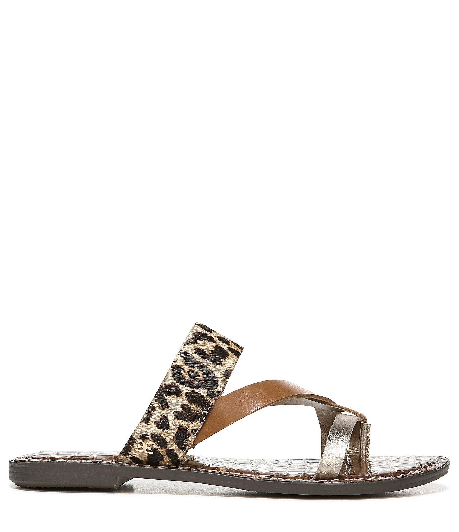 5532dc5ff6bf8b Sam Edelman - Multicolor Gael Leather   Leopard Print Calf Hair Sandals -  Lyst. View fullscreen