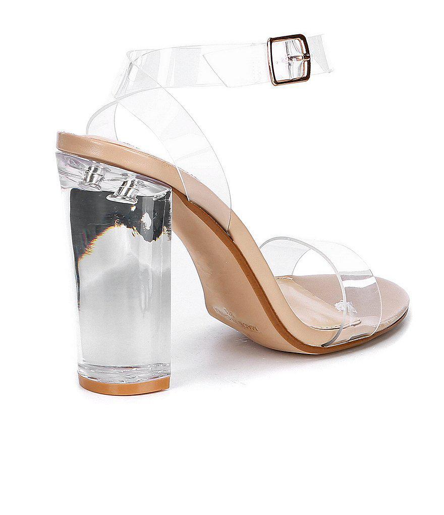 Camille Lucite Clear Block Heel Dress Sandals S21no9rq