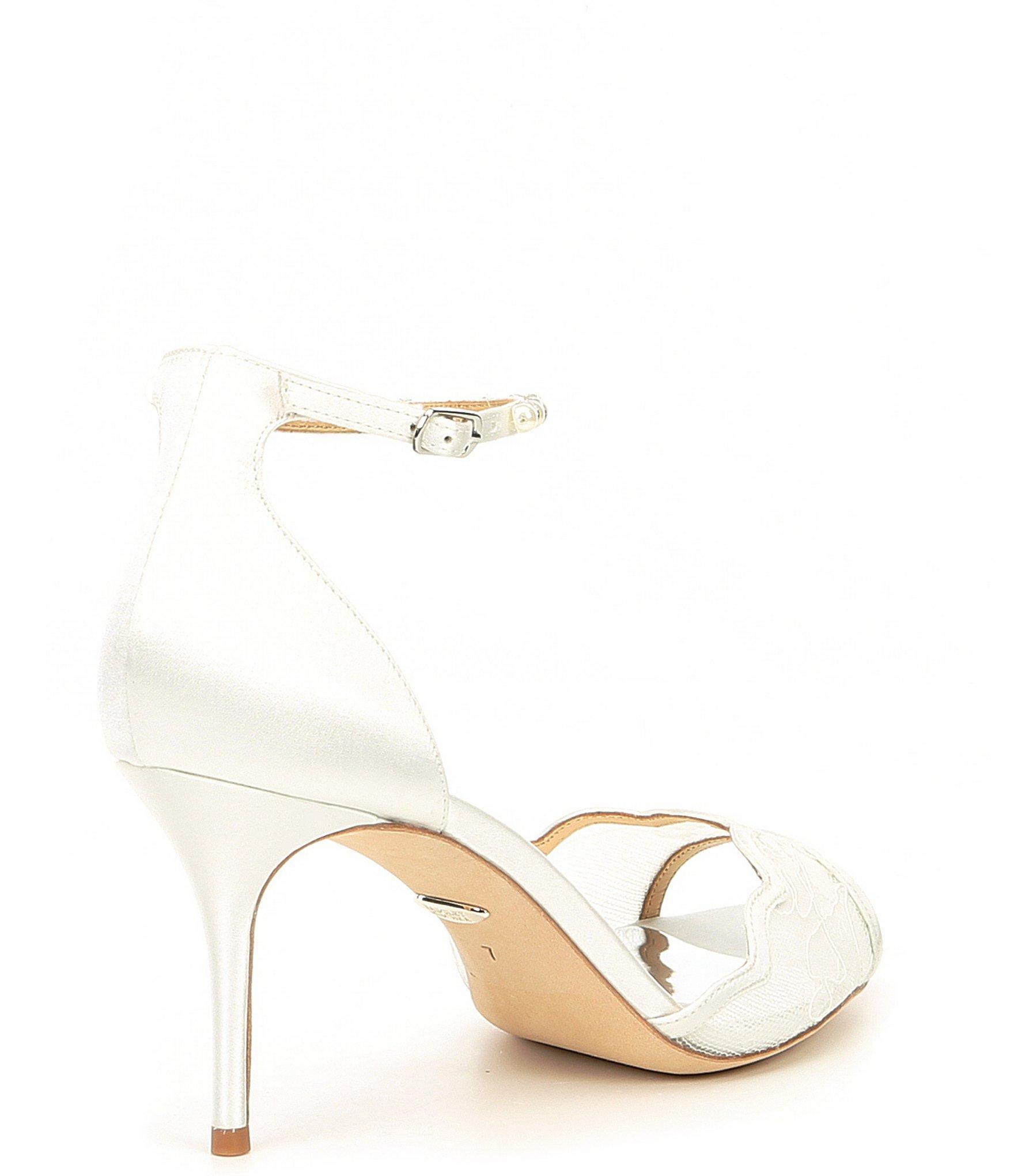 13fd0c93ba78 Badgley Mischka - White Lenora Dress Sandals - Lyst. View fullscreen