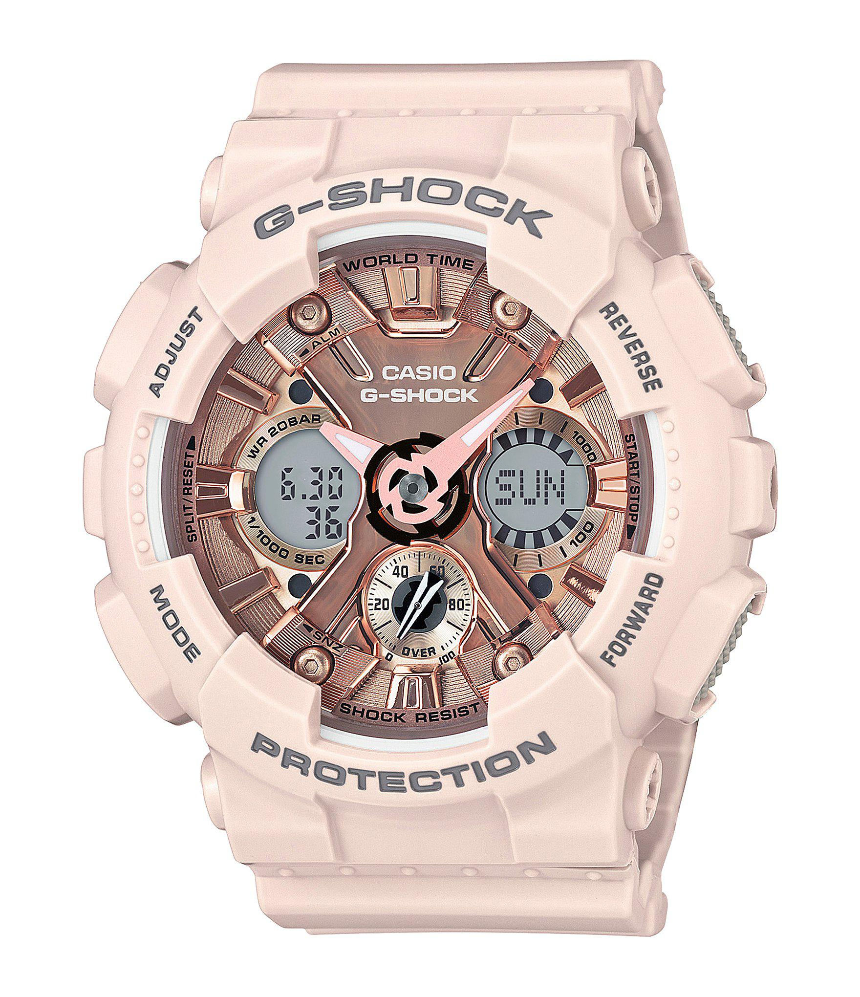 bb5e7e0db3fb Lyst - G-Shock Ana-digi Resin-strap Watch in Pink - Save 29%