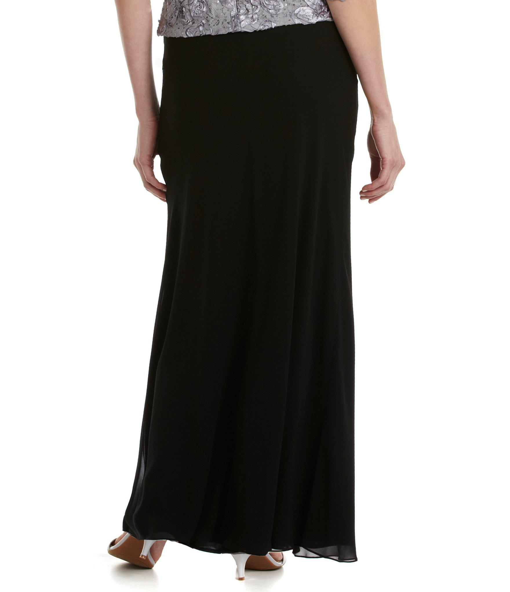 434f6dce9b Alex Evenings - Black Petite Chiffon A-line Skirt - Lyst. View fullscreen