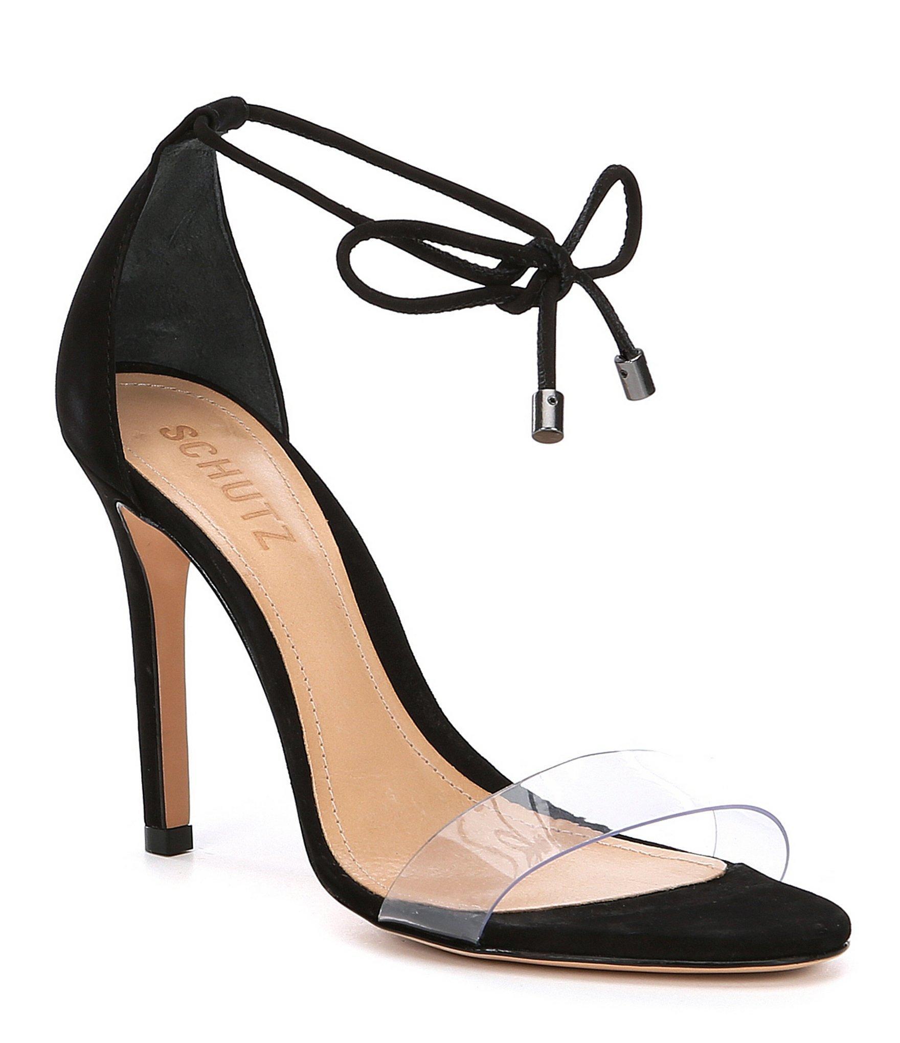 7a63f0a5fd6e Schutz - Black Josseana Nubuck Dress Sandals - Lyst. View fullscreen