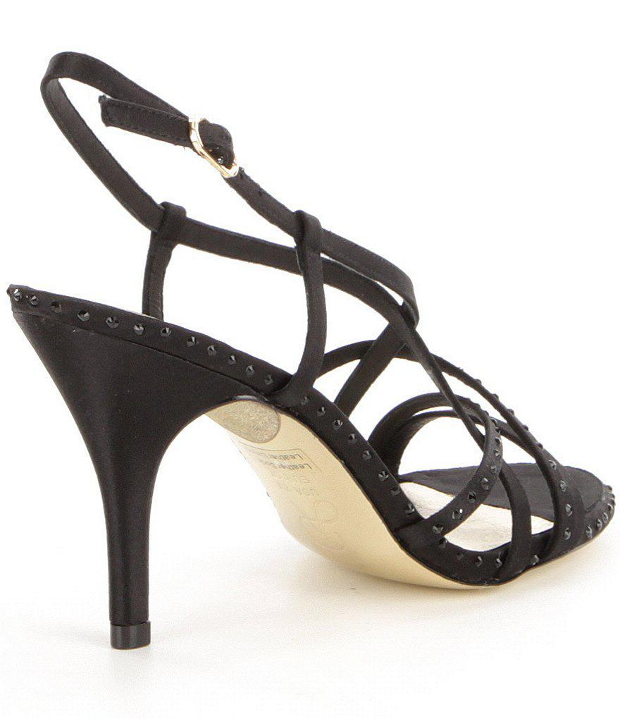 Adrianna Papell Acacia Rhinestone-Embellished Satin Strappy Dress Sandals fCi3XNHB