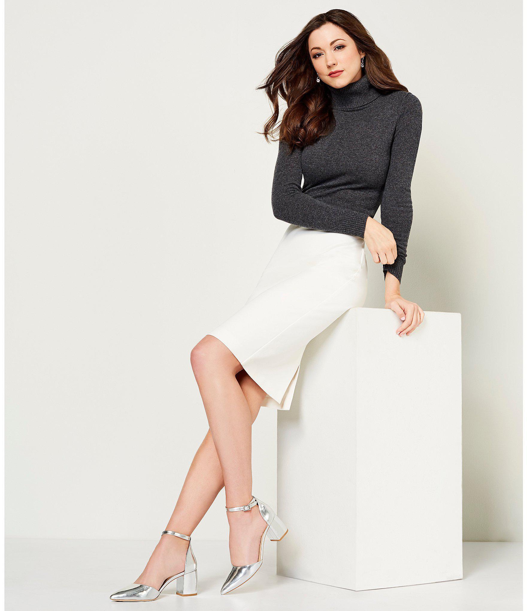 fea7f049c7555 Lyst - Antonio Melani Rachel Ponte Skirt in White