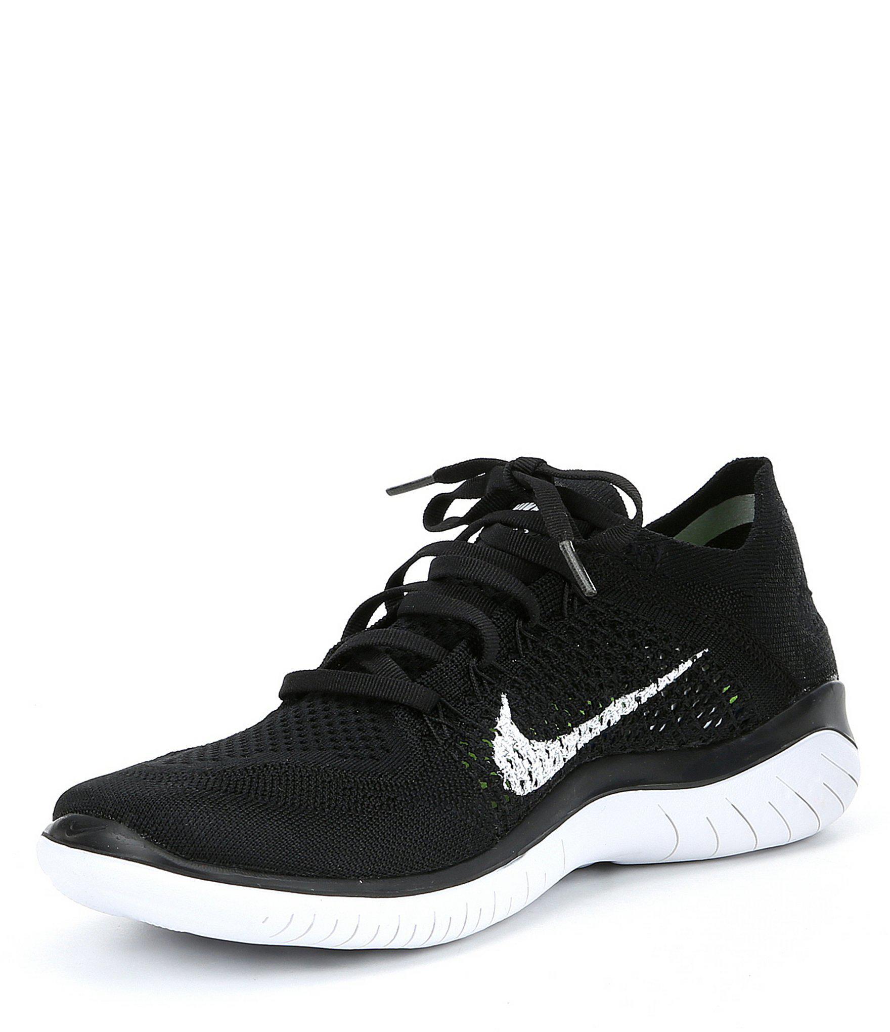 Lyst - Nike Men s Free Rn Flyknit Running Shoes in Black for Men ba09d22a1