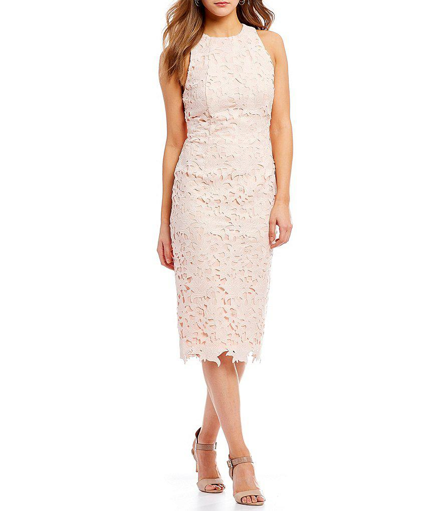 d2a72bcb431 Lyst - Antonio Melani Peggy Lace Midi Dress