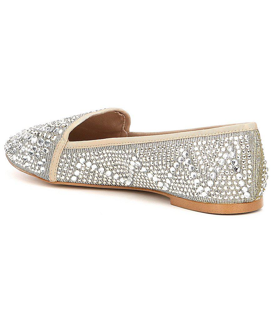 02a351a3470b Lyst - Gianni Bini Astorr Jeweled Flats