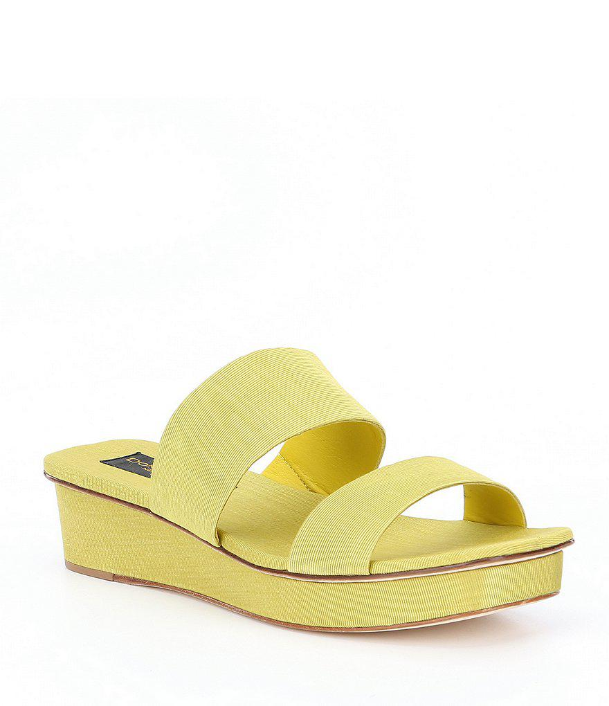 Vera Fabric Banded Wedge Sandals kT5io