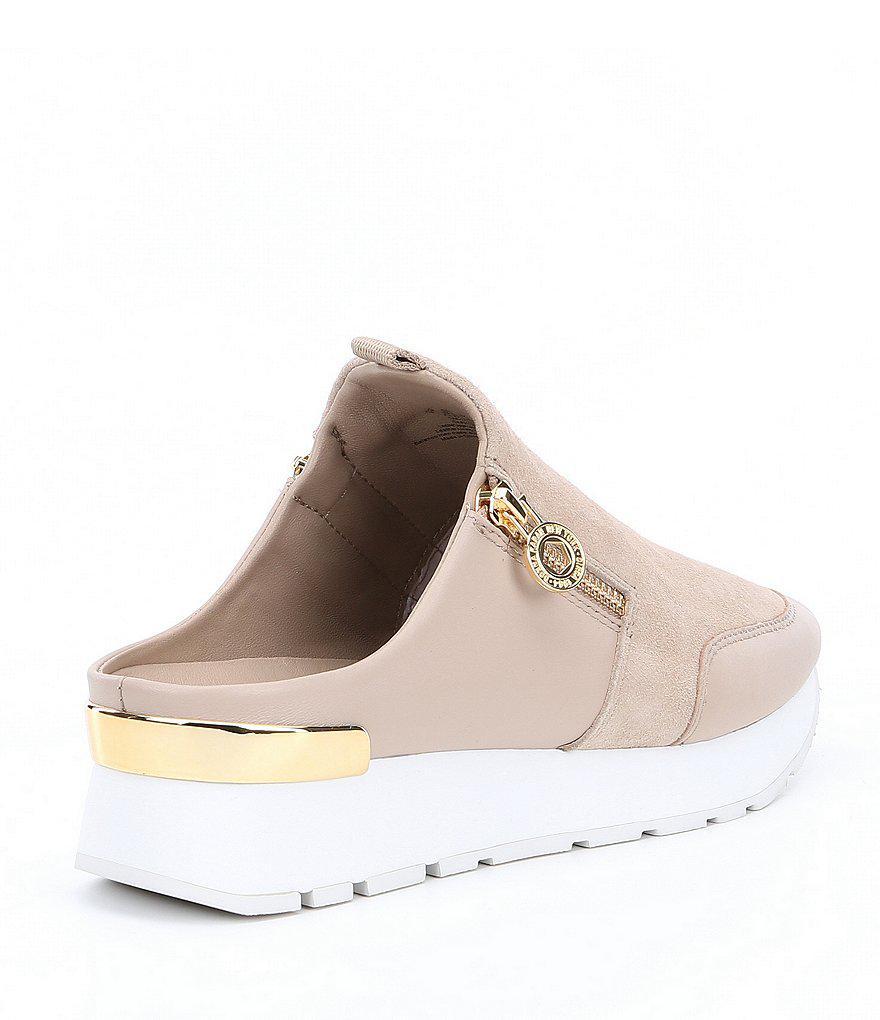 Donna Karan Effie Suede Sneaker Mules 5BkPi5BG
