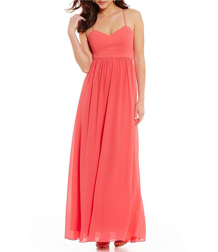 e607f14debd Lyst - Belle By Badgley Mischka Bethany Dress in Pink