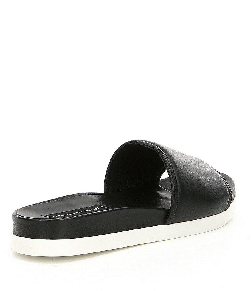 Steven by Steve Madden Saunders Leather Slip On Sandals yVD4KAjp88
