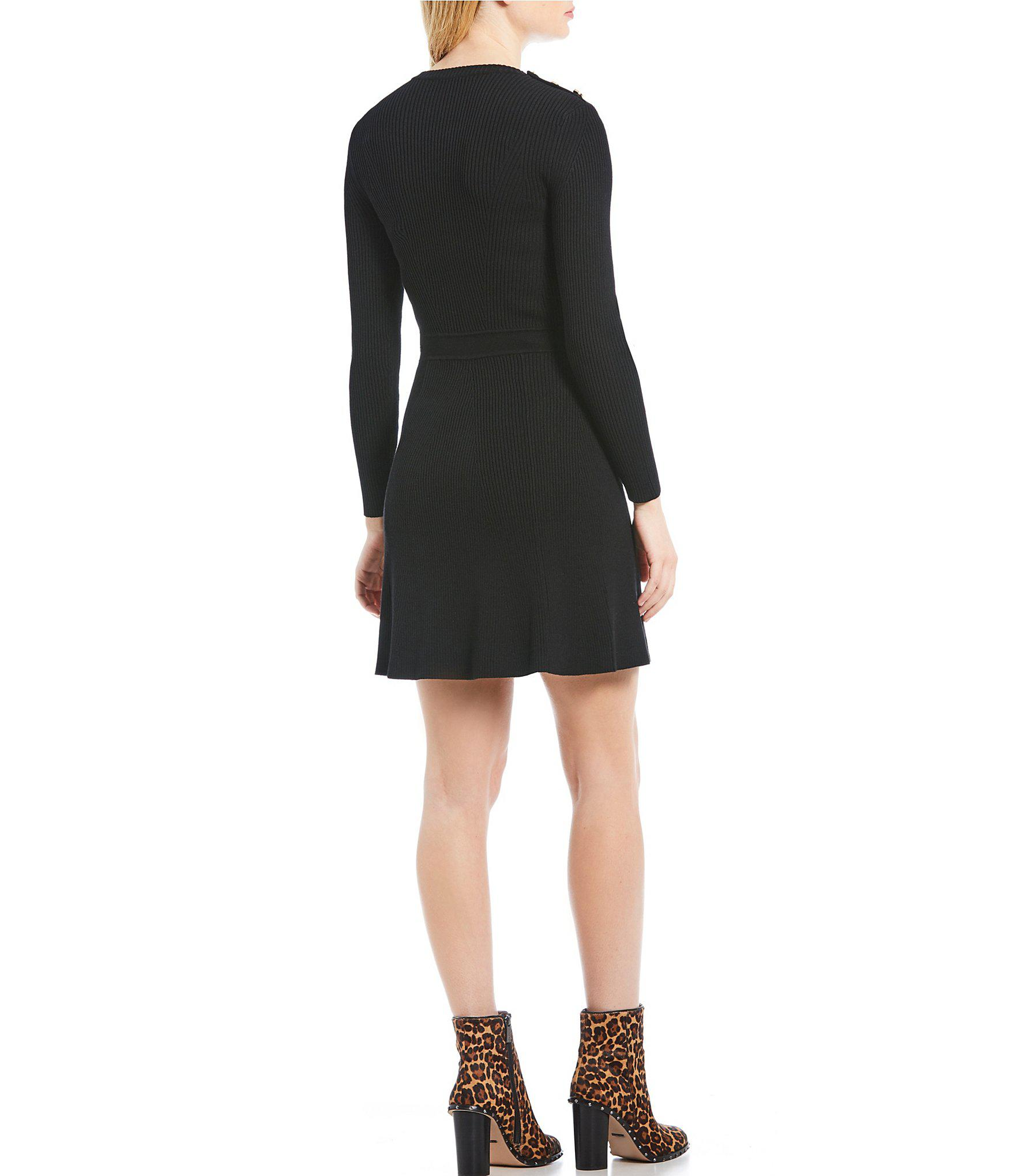 52a3aaa89d8 Gianni Bini - Black Hazel A-line Sweater Dress - Lyst. View fullscreen