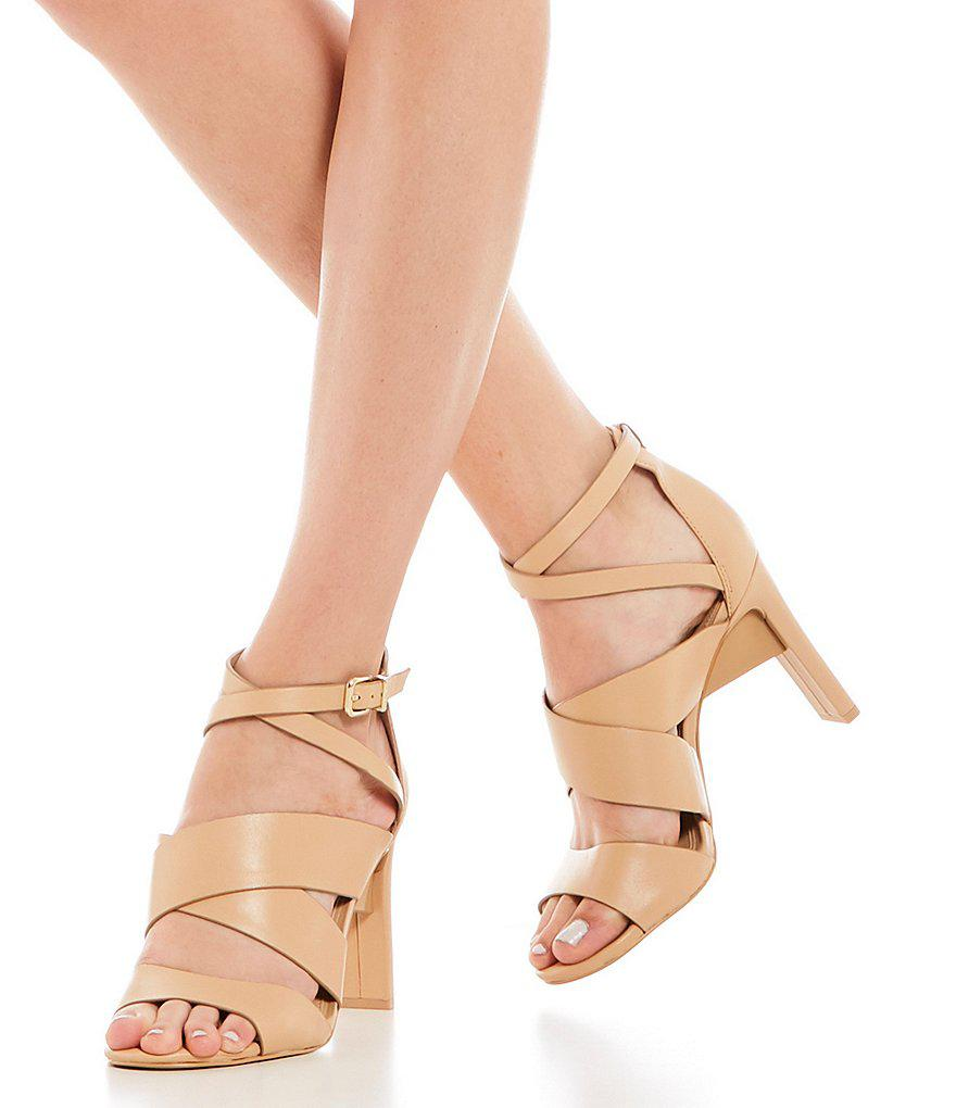 Gianni Bini Neydaa Banded Leather Strappy Dress Sandals CSCn7sXZY