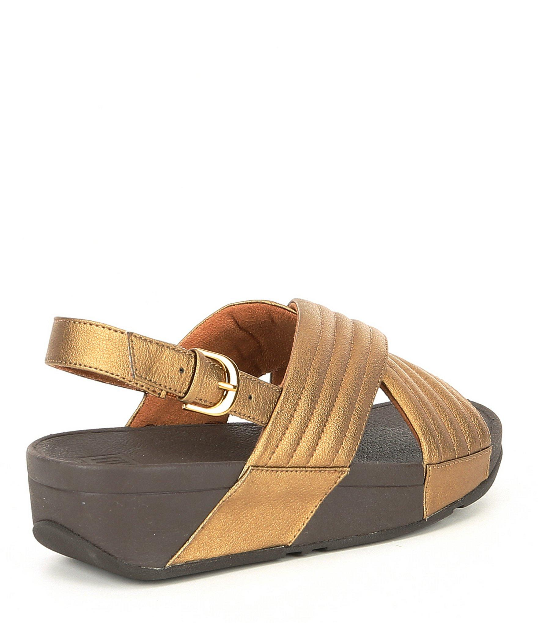401159474cf2 Fitflop - Brown Lulu Leather Padded Back-strap Sandals - Lyst. View  fullscreen