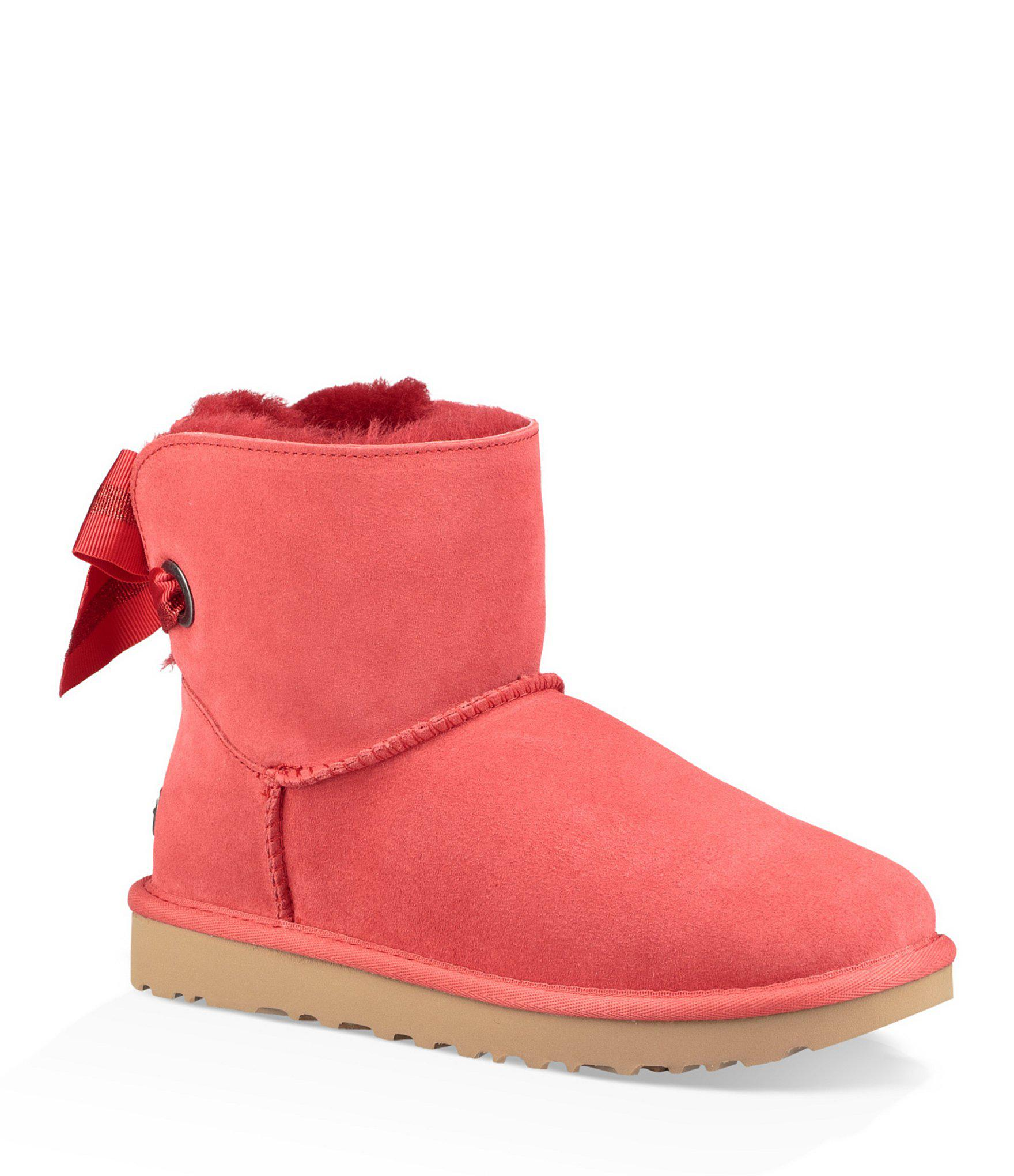 41335879fa3 Lyst - UGG Custom Bailey Bow Mini Booties in Red