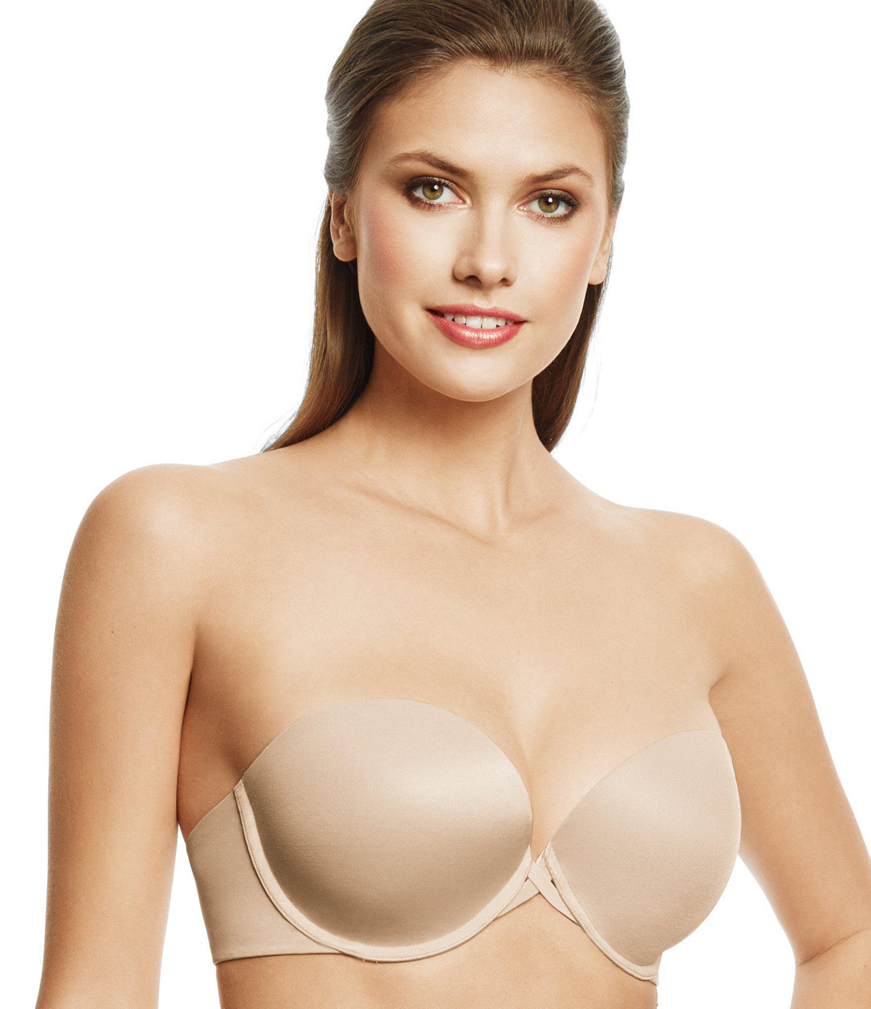 ed99866a44ba6 Lyst - Wacoal Seamless Push-up Strapless Bra in Natural