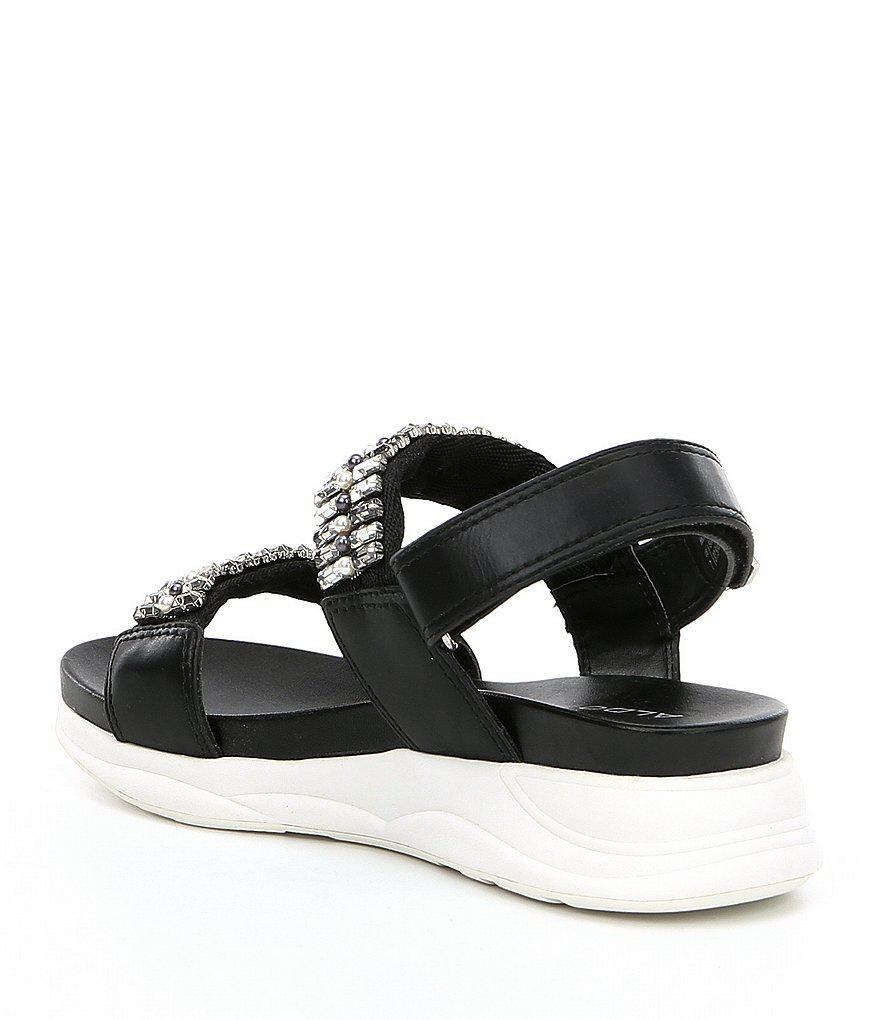 Eloima Bling Strap Wedge Sandals t7w9XgSuY