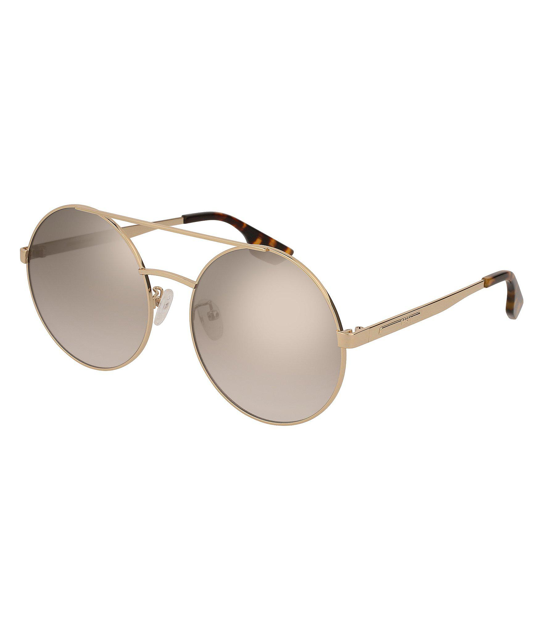 7628391bc4 Lyst - Alexander McQueen Mcq Women s Rounded Over-sized Sunglasses ...