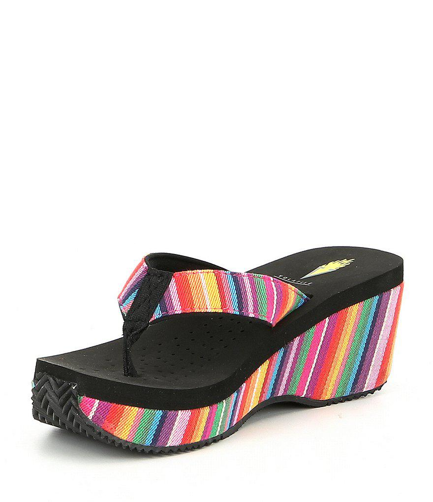 Beloved Serpe Stripe Wedge Sandals g8dMQuFh5e