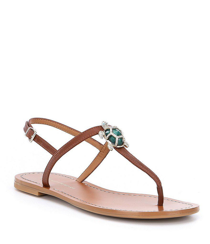 788c87009b69 Lyst - Antonio Melani Tulias Jewel Turtle Ornament Thong Sandals in ...